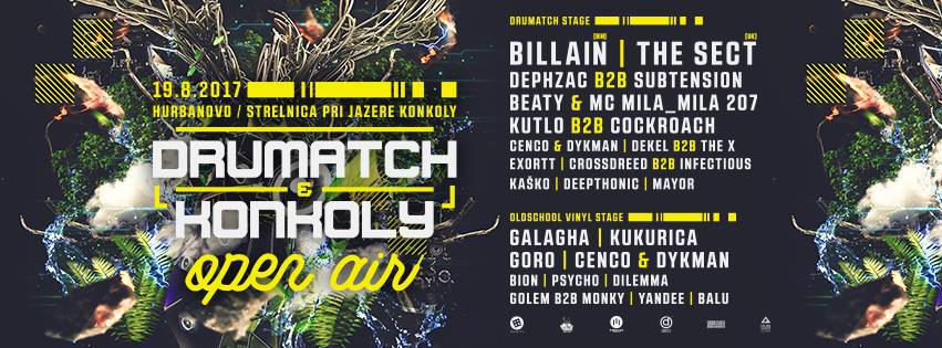 ★ Drumatch & Konkoly Open Air 2017 ★ 19.08. Hurbanovo ★