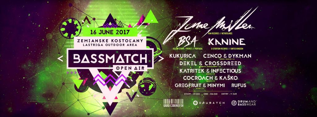 Bassmatch Open Air 2017 with June Miller, BSA, Kanine