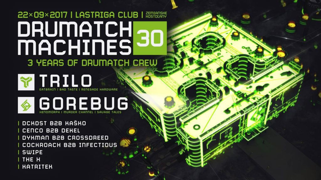 Drumatch Machines 30 / 3 Years Of Drumatch Crew / Lastriga Club