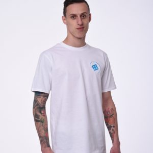 T-SHIRT DRUMATCH MINIMAL WHITE & BLUE