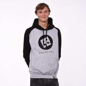 HOODIE DRUMATCH BASEBALL GREY & BLACK