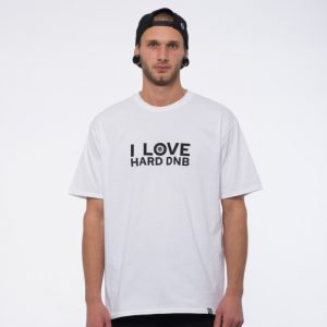 T-SHIRT I LOVE DRUM AND BASS WHITE
