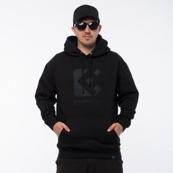 HOODIE DRUMATCH RECORDS BLACK & BLACK