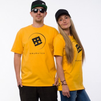 T-SHIRT DRUMATCH PLANET YELLOW