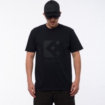 T-SHIRT DRUMATCH RECORDS BLACK & BLACK