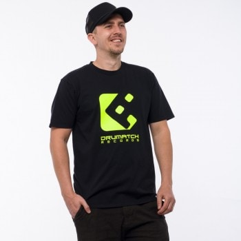 T-SHIRT DRUMATCH RECORDS BLACK & NEON